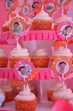 """Dora cupcakes for my little one who loves """"do do"""""""