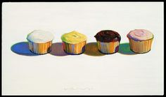"Known especially for his still lifes of delectable sweets (such as ""Four Cupcakes,"" pictured above), Thiebaud has a show opening Friday at Museo Morandi in Bologna, Italy, devoted to modernist still-life painter Giorgio Morandi."