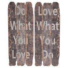 Do & Love Wall Decor (Set of 2)
