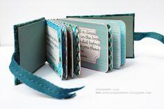 Gorgeous mini album by Alexandra S.M. w/ step by step instructions.
