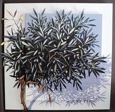 SILVANA SAMARGIDOU ~ Σαμαρτζίδου Συλβάνα * Greek * Athens * Olive Tree Oil Canvas, Shabby, Tree Photography, Greek Art, Olive Tree, Mykonos, Unique Art, Mandala, Artsy