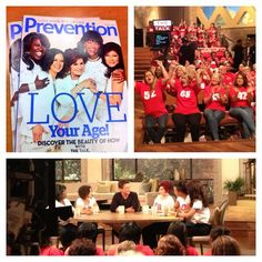 7/23 #TheTalk's #LoveYourAge show is on now w/ @Angie Varinsky & @Prevention Magazine health tips!
