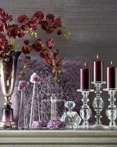 Infuse amethyst accents for a rich, regal look in your home. More colorful ideas on zgallerie.com!