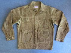 FILSON Jacket Tin Oil Cloth 70's Vintage Cruiser Coat Distressed Size L #CCFilson #Work