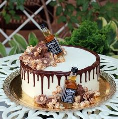 New birthday cake decorating guys 49 ideas Birthday Cakes For Men, Guys 21st Birthday, Birthday Cake For Husband, Adult Birthday Cakes, Cake Birthday, Birthday Ideas, Birthday Cake Ideas For Adults Men, Alcohol Birthday Cake, Alcohol Cake