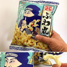 Ninja Snack Fuwamaru .  Un sabor salado vivo y sencillo que se desvanece de forma ligera en  la boca.  Como ingrediente secreto está compuesto de Hatomugi la  comida de los ninjas. . A solo 4 días del cierre! .  www.boxfromjapan.com . #japanesecandy  #bfjabril  #boxfromjapan  #ninja  #snacks