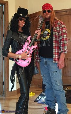 Jennifer: My hubby and I are wearing the costumes.. Love gn'r so decided to be slash and Axl..