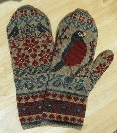 Ravelry: The Secret (stranded) knit mittens pattern by Julie Hamilton Mittens Pattern, Knit Mittens, Knitted Gloves, Knitting Socks, Hand Knitting, Knitting Patterns, Crochet Patterns, Fingerless Mittens, Hat Patterns