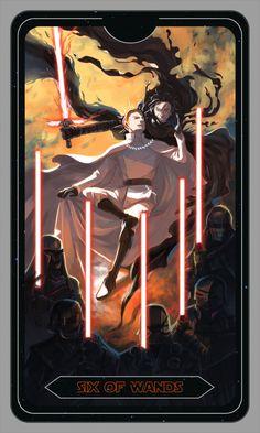 Star Wars Tarot - Six of Wands Star Wars Saga, Star Wars Fan Art, Han And Leia, Star Citizen, Tarot Decks, Clone Wars, Tarot Cards, Artwork, Starwars