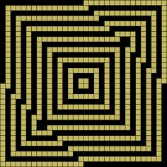 Grid design from Grid Paint. Illusion geometric design. Modern Quilt inspiration. Tapestry Crochet Inspiration.