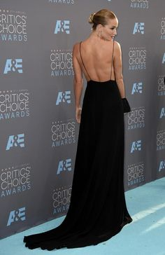 Rosie Huntington-Whiteley in a Saint Laurent dress at the 21st Annual Critics' Choice Awards (Photo: Mark Ralston/Agence France-Presse — Getty Images).