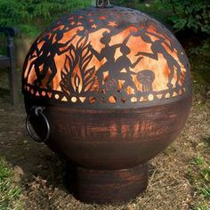 Good Directions Full Moon Party Copper Wood Burning Steel Fire Pit With Spark Screen - Fire Pit Bowl, Fire Bowls, Fire Pits, Steel Fire Pit, Wood Burning Fire Pit, Full Moon Party, Copper Wood, Hammered Copper, Patio Heater