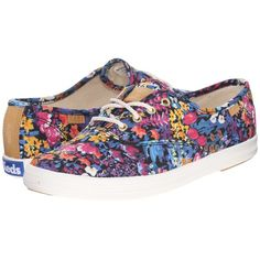 Keds Champion Liberty Floral Women's Lace up casual Shoes (2,825 THB) ❤ liked on Polyvore featuring shoes, laced shoes, laced up shoes, flexible shoes, keds shoes and floral lace up shoes