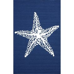 Details about  Nautical starfish rug blue carpet handmade patio furniture decor outdoor indoor