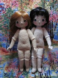 how to make a jointed crochet doll.