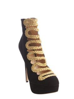 black suede 'Gwendolyn' platform boots