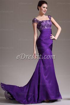 eDressit 2013 New Stylish Cap Sleeves Purple Evening Dress (02132406),$183.06,www.edressit.com/_p2738.html
