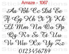 Custom Text Shells 3 Font Script Cursive by StickyCreations4u2c