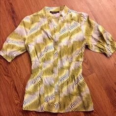 BCBGMAXAZRIA blouse size small Super cute top! Bright colors, no stains or rips, etc. Size is between x-small or small. BCBGMaxAzria Tops Blouses