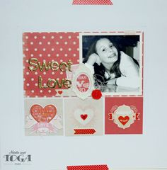 Page de scrapbooking Love - Collection A La Folie par Toga