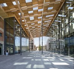 Besançon Art Center and Cité de la Musique on the banks of the Doubs river in Besançon, France,  by Japanese Architects Kengo Kuma & Associates