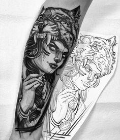 Classy arm tattoo design ideas for men that looks Bear Tattoos, Body Art Tattoos, Tattoo Drawings, Girl Tattoos, Sleeve Tattoos, Arm Tattoos For Guys, Future Tattoos, Guerrero Tattoo, Headdress Tattoo
