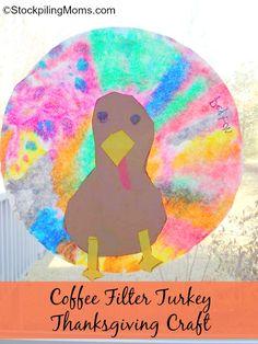 Coffee Filter Turkey Thanksgiving Craft