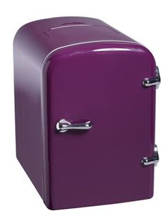 This tiny fridge is cute AND small enough to fit in any dorm room! #17college