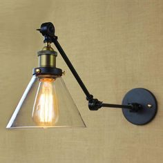 American Industrial Loft Iron Black Glass Wall Sconce Cafe Bar Hotel Corridor Glass Wall Light Decorative Wall Sconce From Dpgkevinfan, $47.13 | Dhgate.Com