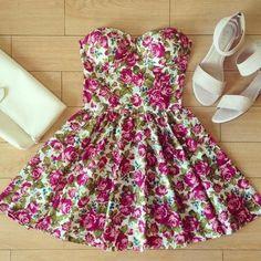 Rose mary floral print dress - http://koalatfashion.storenvy.com/
