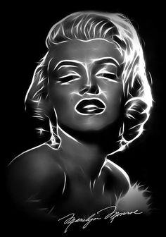 Immortal Icone Digital Art by Steve K Marilyn Monroe Wall Art, Digital Image, Digital Art, Patrick Willis, Pastel Crayons, Framed Prints, Art Prints, Lip Art, Black Paper