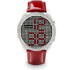 Phosphor Watch - Appear - Red/Crystal - £205.00