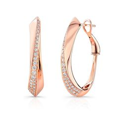 Rose Gold and Diamond Uneek Designs Earrings