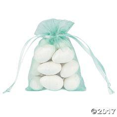 Mini Mint Green Organza Bags - OrientalTrading.com