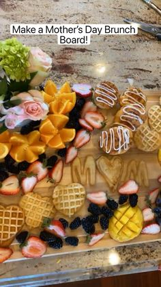 Fun Baking Recipes, Brunch Recipes, Snack Recipes, Cooking Recipes, Party Food Buffet, Party Food Platters, Charcuterie Recipes, Charcuterie Board, Brunch Party