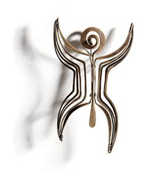 "Harry Bertoia Brooch, 1946, 3.875"" x 2.625"", Provenance: From the Estate of Max Palevsky,"