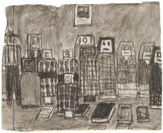 James Castle Lived and worked in Idaho Untitled (friends with books), n. soot and saliva 3 x 4 inches jcas 425 Philadelphia Art Galleries, James Castle, Art Brut, Outsider Art, American Artists, Artist At Work, Art World, Contemporary Artists, Art History