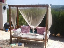 Un sofá ideal para el jardín