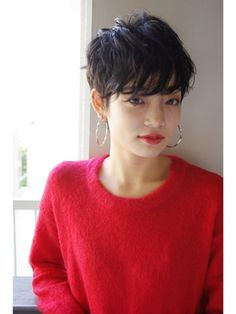 """beyond-""""E"""" 【ウェット質感】上品さとモードを兼ね備えた黒髪ショート How To Curl Short Hair, Very Short Hair, Short Hair Cuts For Women, My Hairstyle, Pretty Hairstyles, Edgy Hair, Hair Photo, Short Hairstyles For Women, Great Hair"""