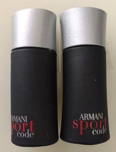 2 Armani Code Sport By Giorgio Armani 0.14oz./4ml Edt Mini Splash #GiorgioArmani
