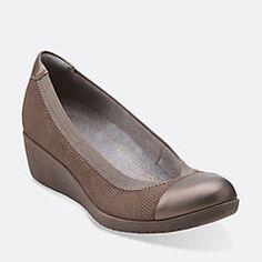 f877e314b9f57 Petula Sadie Taupe Nubuck - Clarks Womens Shoes - Womens Heels and Flats -  Clarks -
