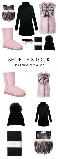 """""""Winter Essentials: Vest + Boots + Beanie"""" by leiastyle on Polyvore featuring UGG Australia, Giamba, Inverni, Toast and Marni"""