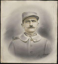 Contribution de Ginette Patard, AD76 - Portrait de Désiré Lebourg. 1num0093. Désiré Lebourg est né à Duclair le 10 mars 1886.