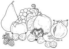 Dibujos de frutas y verduras para colorear - Betiana 1 - Picasa Web Albums