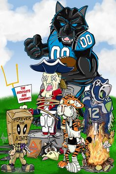 Panthers Football Team, Carolina Panthers Football, Sport Football, Panther Nation, Cam Newton, Sports Art, Carolina Blue, Big Cats, Rage