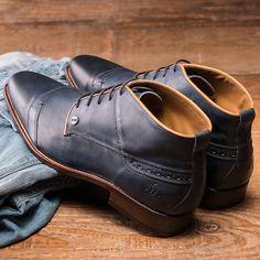 REHAB Lector Indigo #rehabfootwear #classiccollection #blue #classic #dressy #buffalo #leather #leathergoods
