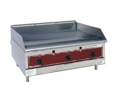 "Southbend Counter Model Gas Griddle - HDG-24   Southbend Griddles and Charbroilers - Griddle, Gas, Counter Model, 24"" wide, 1"" thick polished steel plate, electronic ignition (battery), (2) thermostatic controls range 150 - 400 degree F settings, s/s front & sides, 4"" s/s legs, 60,000 BTU"