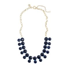 J. Crew necklace: bead doublets on chain