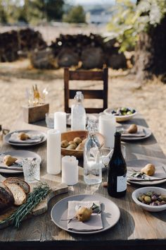 DIANI Living: vintage two hole votive wooden mold, and clear poznan bottles | Cheetah Is The New Black