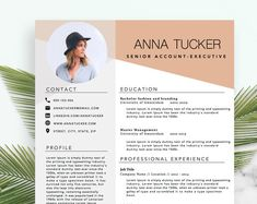 Modern Resume Template / CV Template Professional and Creative Resume | Etsy